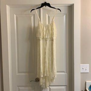 Hi-low Lace Cream Dress